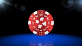 Рулетка, игра казино, королевские игры, самая лучшая 3D иллюстрация, самая лучшая анимация акции видеоматериалы