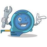 Рулетка шаржа характера механика бесплатная иллюстрация