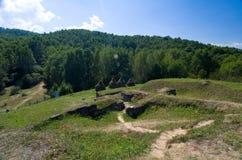 Румыния - крепость Dacian Costesti-Blidaru Стоковое Изображение