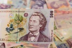Румынская банкнота 500 Стоковое фото RF