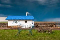 Румынская крестьянская тележка Стоковые Изображения RF
