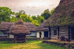Румынская традиционная деревня Стоковые Фотографии RF