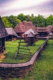 Румынская традиционная деревня Стоковое фото RF