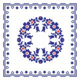 Румынская традиционная тема подушки Стоковая Фотография RF