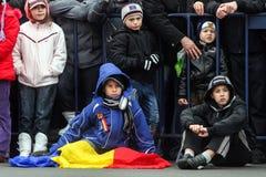 Румынские дети на параде стоковая фотография rf