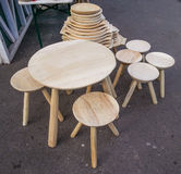 Румынские традиционные деревянные объекты Стоковая Фотография