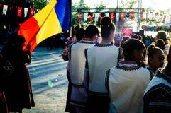 Румынские фольклорные танцоры на день ` s национального суверенитета и детей - Турция Стоковое фото RF