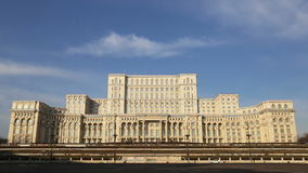 Румынский парламент (Каса Poporului) сток-видео