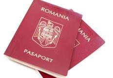 Румынский пасспорт Стоковые Изображения