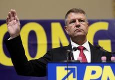 Румынский политик Klaus Iohannis Стоковая Фотография RF