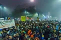 Румынский протест 06/11/2015, Бухарест Стоковое фото RF