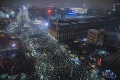 Румынский протест против правительства Стоковые Фотографии RF