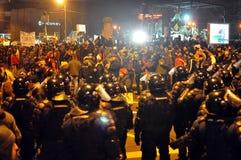 Румынский протест 19/01/2012 до 12 Стоковые Изображения RF