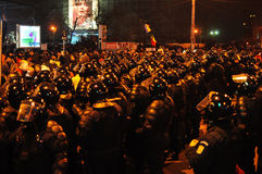 Румынский протест 19/01/2012 до 3 Стоковое Изображение