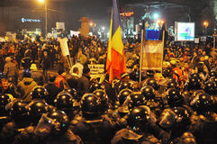 Румынский протест 19/01/2012 до 6 Стоковое фото RF