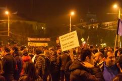 Румынский протест 05/11/2015 Стоковая Фотография