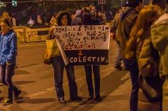 Румынский протест 05/11/2015 Стоковое Изображение