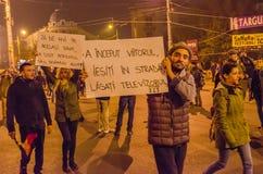 Румынский протест 05/11/2015 Стоковые Фото