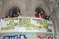 Румынский протест 05/11/2015 Стоковое фото RF