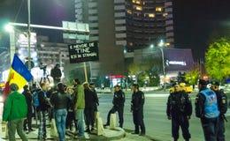 Румынский протест 09/11/2015 Стоковое фото RF