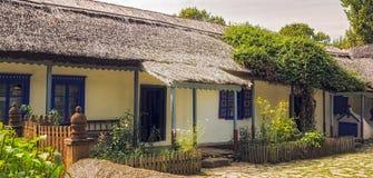Румынский традиционный голубой дом Стоковые Фото