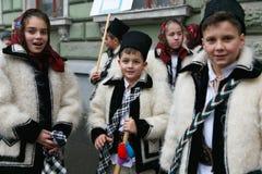 Румынский фестиваль в традиционном костюме Стоковое Изображение RF