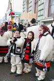 Румынский фестиваль в традиционном костюме Стоковая Фотография RF