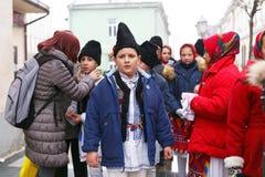 Румынский фестиваль в традиционном костюме Стоковые Изображения RF