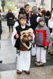 Румынский фестиваль в традиционном костюме Стоковая Фотография