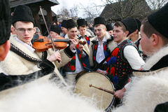 Румынский фестиваль зимы в Maramures Стоковое Изображение RF