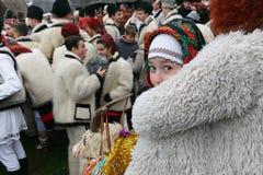 Румынский фестиваль зимы в Maramures Стоковая Фотография