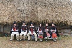 Румынский фестиваль зимы в Maramures Стоковые Изображения RF