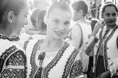 Румынский фольклорный танцор на день ` s национального суверенитета и детей - Турция Стоковые Фотографии RF