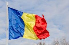 Румынский флаг Стоковые Изображения RF