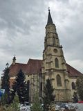Румынский Steeple церков Стоковое фото RF