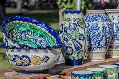 Румынское традиционное керамическое для Corund, области Трансильвании Стоковая Фотография