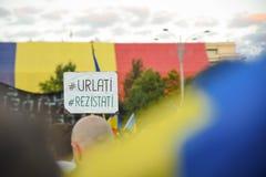 Румыны протестуют против правительства Стоковое фото RF
