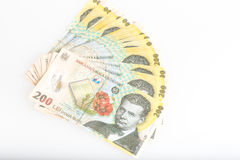 Румын денег стог 200 леев Стоковое Фото