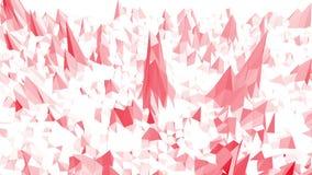 Румяная или розовая низкая поли поверхность как геометрическая сетка Окружающая среда или предпосылка полигональной цифровой моза бесплатная иллюстрация