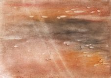 Румяная коричневая туманная картина чертежа мытья Стоковые Фотографии RF