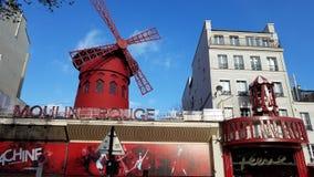 Румян Париж Moulin, Франция стоковая фотография rf