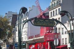 Румян Moulin в Париже, Франции стоковое фото