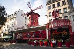 Румян Moulin в Париже, Франции стоковое фото rf