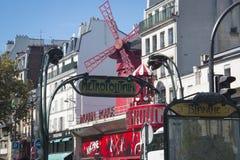 Румян Moulin в Париже, Франции стоковые фото