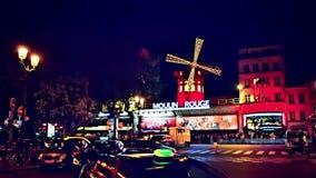 Румян Moulin кабара к ноча Франция paris видеоматериал