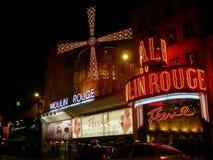 Румян Moulin к ноча стоковые фотографии rf