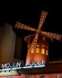 Румян Moulin на ноче Стоковые Фотографии RF