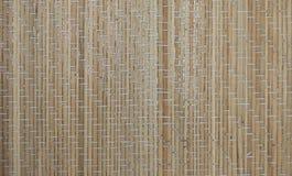 Русая бамбуковая текстура циновки Стоковые Фото