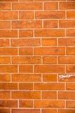 Русая кирпичная стена Стоковые Фото