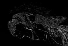 Русалка спать Стоковая Фотография RF